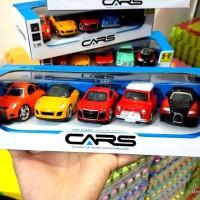 Mainan Anak - Diecast CARS Set isi 5 - Mini Car Set