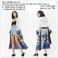 Long Cardigan Kimono Panjang Wanita Korea Jepang Import AB348532 Tunik