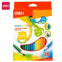 DELI Colored Pencil Triangle Soft Basswood Rich 36C [EC00230] - Pensil