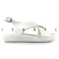 Isabel MADISON Sepatu Sandal Wanita Platform Putih Cream Rose Gold