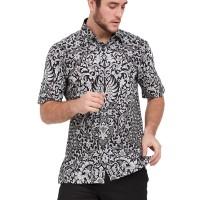 Alisan Kemeja Lengan Pendek Batik Kombinasi Hitam Putih BTKKB20955SS