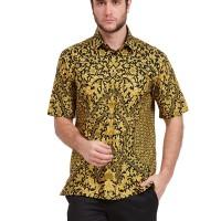 Alisan Kemeja Lengan Pendek Batik Kombinasi Hitam Kuning BTKKB20956SS