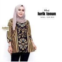 Blus Lurik Tenun / Blus Batik Cantik / Blouse Batik Modern / Atasan Ba