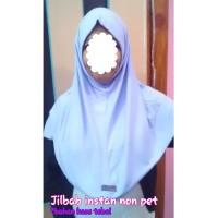 Jilbab Instan Non Pet Bahan Kaos - Ungu Muda