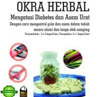 okra merah kapsul 60pcs anti asam urat dan diabetes