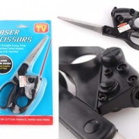 Gunting Laser Pointer Scissor Pemotong Kain Alat Potong Kertas Rambut