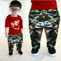 NEW SET KID BOY ARMY RED [Baju Anak 0107] SAO