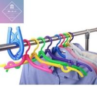 Hanger Lipat Portable / Gantungan Baju Lipat Motif Baru
