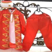 Baju pakaian adat betawi anak laki kostum jubah stelan pengantin sunat