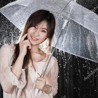Payung Transparant BESAR Payung Jepang Payung Korea Lebar104CM u/ 2org