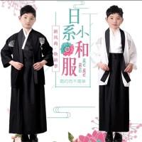 kostum kimono jepang anak putih atau krem