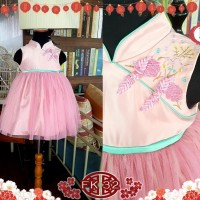 Dress Baby Cheongsam CNY Imlek Pink