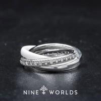Nine Worlds Ring cincin Silver 925 dan Zirconia ceramic crystal16
