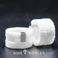 Nine Worlds Ring cincin Silver 925 dan Zirconia ceramic crystal3