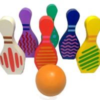 Mainan Anak Kayu Edukasi / Edukatif - Bowling 2d