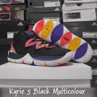 Sepatu Basket Kyrie 5 Black Multicolor Hitam Warna Warni
