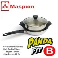 Harga dijual maspion panda fit b panci set fry pan dan sauce pan | Pembandingharga.