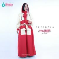 Jas Hujan Muslimah Sheeba Queenzha Motif Worm Flower Ruby