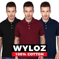 Kaos Polo Shirt Kerah Baju Pria Lacoste Wyloz Murah Bahan Gildan