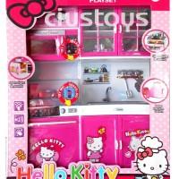 Mainan Anak Perempuan Wanita Kitchen Set Hello Kitty Kado Ulang Tahun