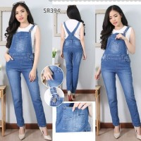Real Picture Celana Kodok Overall Jumpsuit Jeans Import Celana Panjang