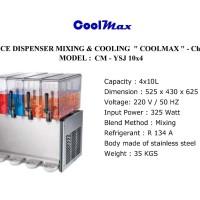 COOLMAX JUICE DISPENSER MIXING & COOLING TIPE CM-YSJ 10x4 4 TANK BOWL