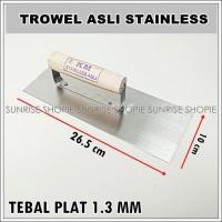 Trowel Asli Stainless - Sendok Semen - Cetok Acian Kotak