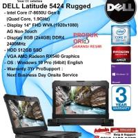 DELL Latitude 5424 Rugged Intel Core i7-8650U/8GB/512GB SSD/WIN10PRO