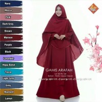 Gamis Arafah Syari Original Hijab124k Set Khimar Free Cadar - Maroon