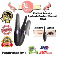 perfect beauty eyelash curler heated pelentik bulu mata mini