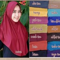 Jilbab Adiba Serut Jokowi / Hijab instan serut polos / Jilbab Serut