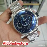 Jam Tangan Pria Tag Heuer SLS Silver Jarum Blue Original