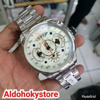 Jam Tangan Pria Tag Heuer SLS Silver White Original