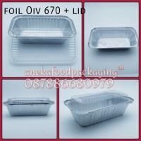 Wadah/cup aluminium foil kotak Oiv 670 + tutup