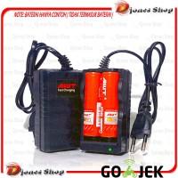 Fast Charger Desktop 2 Slot Baterai Vape Rokok Eletrik 18650 - Hitam