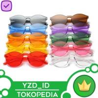Kacamata Hitam Transparant / Kacamata Jelly / Sunglasses tanpa bingkai