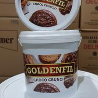 GoldenFill Selai Coklat Choco crunchy 1 KG bkn chocomaltine ovomaltine