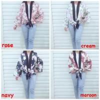 Cardigan Kimono FLOWER Fashion Ikat Bawah Tali