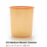 Medium Mosaic Canister Gold (Toples)