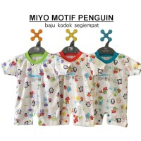 MIYO Baju Kodok Segiempat Motif 0-3 Bulan