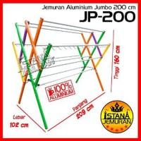 Unik DISKON BESAR Jemuran Baju Aluminium Jumbo 200 cm 12 Pal Diskon