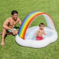 Kolam Rainbow Cloud Baby Pool Sunshade Canopy - Intex 57141