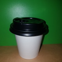Hot cup 9 oz with Lid warna hitam isi 50 pcs