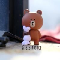 Boneka Figur Line Brown | Hadiah Dekorasi Line Friends