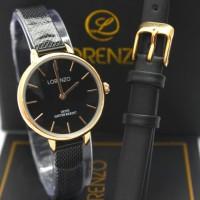 JAM TANGAN WANITA LORENZO BLACK ROSE R1066L