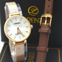 JAM TANGAN WANITA LORENZO GOLD R1066L