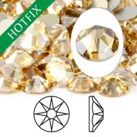 Crystal Swarovski SS16 3.8mm Golden Shadow - Hotfix Flatback Kristal