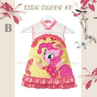 Dress Fashion Anak Cheongsam Little Pony Pink