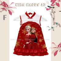 Dress Fashion Anak Cheongsam Frozen Merah