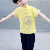 Stelan Fashion Anak Laki laki CNY Imlek PdkPjg Kuning Hitam